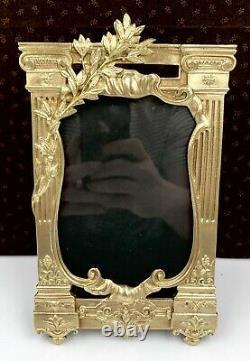 Superbe ancien GRAND cadre photo bronze doré NAPOLEON III 1900 XIXe FRAME