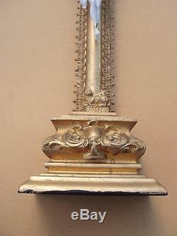 Superbe et rare grand crucifix doré XIXe siècle janséniste