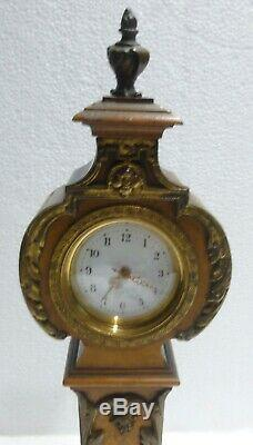 Superbe pendulette XIXè horloge de parquet miniature fonctionne clock pendule