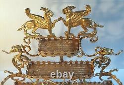 Support cave à liqueurs ou à parfum bronze laiton doré style Empire Début XIX°