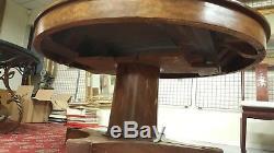 TABLE a RALLONGES XIXe 19e NAPOLEON III Noyer Pietement Central Mobilier NAP 3