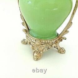 VASE en Opaline Verte et Bronze Doré XIXe