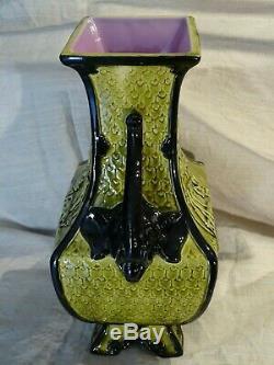 Vase Céramique émaillée XIX Japonisme Napoléon III-Glazed ceramic 19th Europe