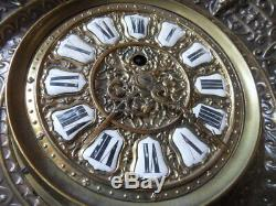 Vintage pendule cartel horloge murale wall clock uhr FARCOT Paris XIXe Napoleon
