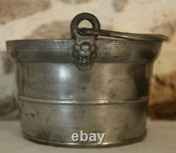 XIXe 1835 Porte Dîner Repas poinçon BOUVIER BL à tête d'Anges CLAMECY Bourgogne
