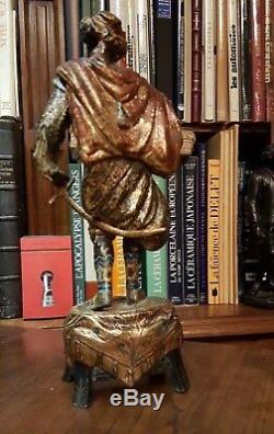XIXe siècle PRINCE MAURE en Régule Polychrome Napoléon III Sculpture Statue